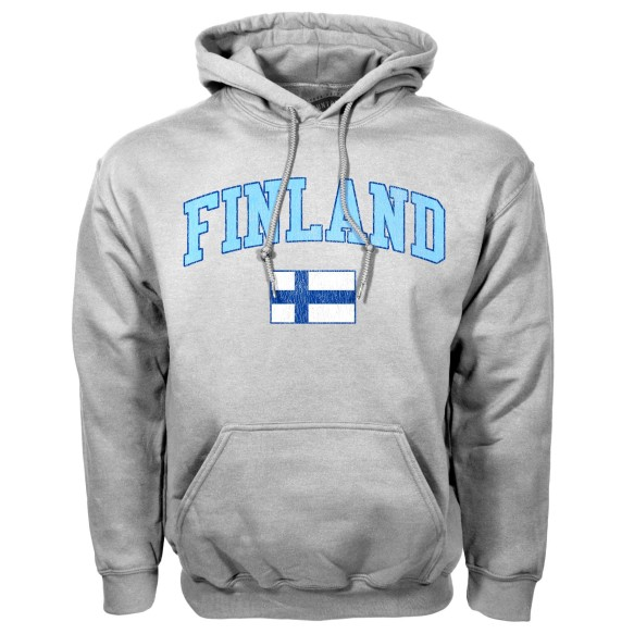 Finland MyCountry Vintage Pullover Hoodie (Sport Gray)