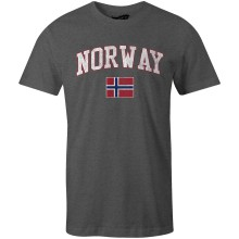 Norway MyCountry Vintage Jersey T-Shirt (Charcoal Heather)