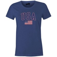 USA MyCountry Women's Vintage Jersey T-Shirt (Navy Heather)