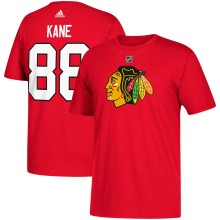 Chicago Blackhawks Patrick Kane Adidas NHL Silver Player Name & Number T-Shirt