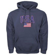 USA MyCountry Vintage Pullover Hoodie - Navy