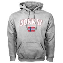 Norway MyCountry Vintage Pullover Hoodie (Sport Gray)
