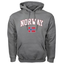 Norway MyCountry Vintage Pullover Hoodie (Charcoal)