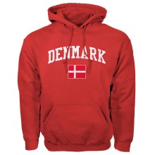 Denmark MyCountry Vintage Pullover Hoodie (Red)
