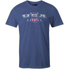 USA MyCountry Crossed Sticks Vintage Jersey T-Shirt (Navy Heather)