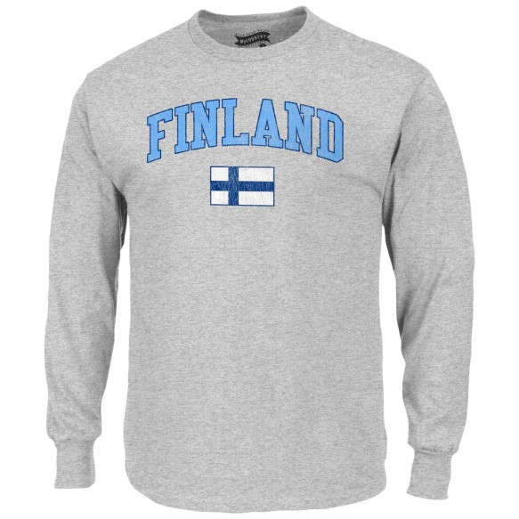 Finland MyCountry Vintage Jersey Long Sleeve T-Shirt (Sport Gray)