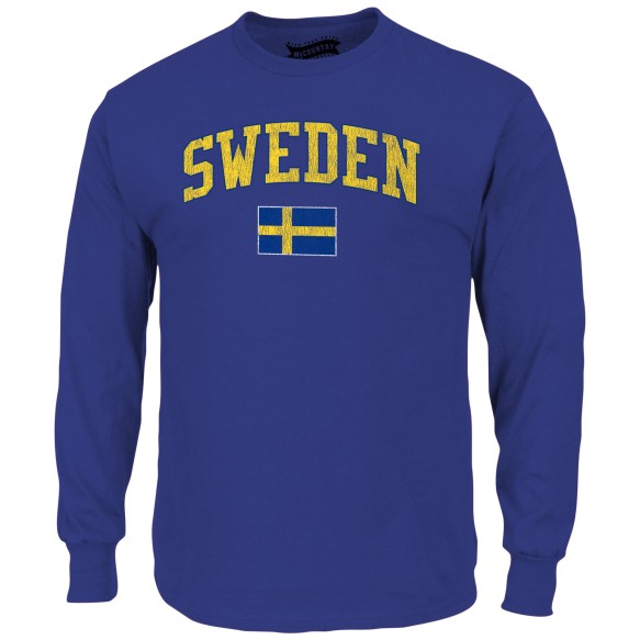 Sweden MyCountry Vintage Jersey Long Sleeve T-Shirt (Royal)