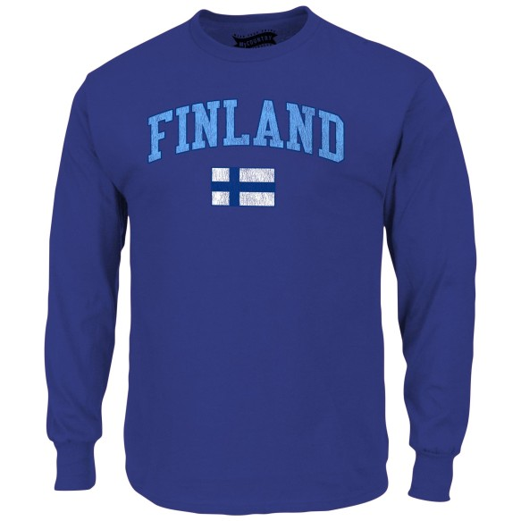 Finland MyCountry Vintage Jersey Long Sleeve T-Shirt (Royal)