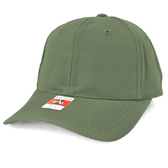 American Needle Fitted Blank Wool Blend Hat - Khaki