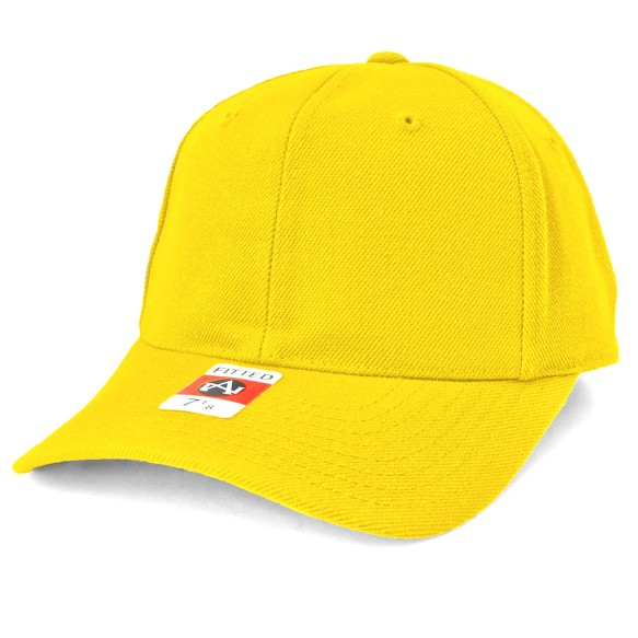 American Needle Fitted Blank Wool Blend Hat - Yellow