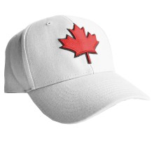 Canada Lofted Brush Cotton Cap (White) | Adjustable