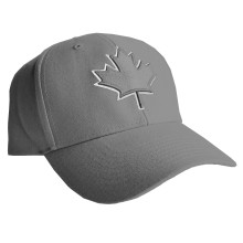 Canada Lofted Brush Cotton Cap (Grey) | Adjustable