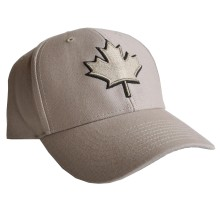 Canada Lofted Brush Cotton Cap (Khaki) | Adjustable