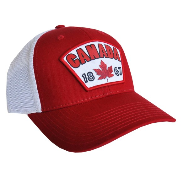 Canada Established 1867 Cool Mesh Cap (Red)
