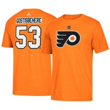 Philadelphia Flyers Shayne Gostisbehere Adidas NHL Silver Player Name & Number T-Shirt