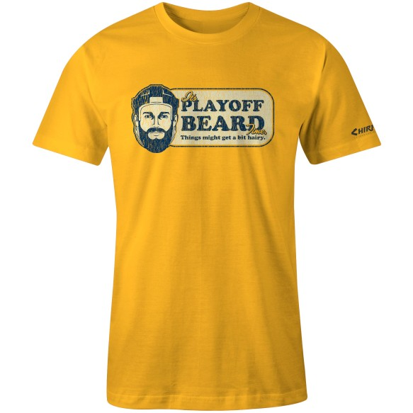 Chirp! Playoff Beard T-Shirt (Gold)