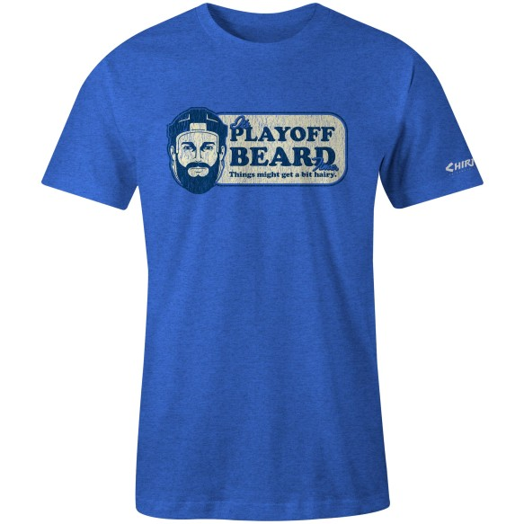 Chirp! Playoff Beard T-Shirt (Royal Heather)
