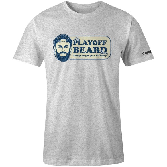 Chirp! Playoff Beard T-Shirt (Sport Gray)