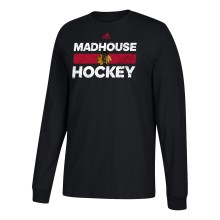 Chicago Blackhawks adidas NHL Heavily Used Slogan Go To Long Sleeve T-Shirt