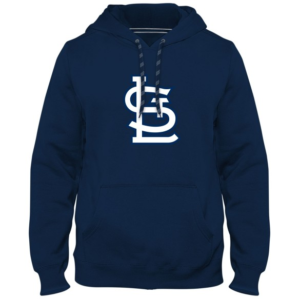 St. Louis Cardinals MLB Express Twill Logo Hoodie - Navy