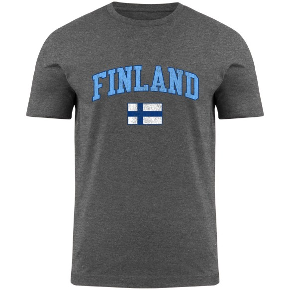 Finland MyCountry Vintage Jersey T-Shirt - Premium Gray Heather