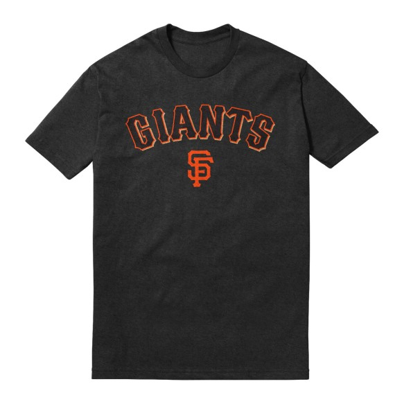 San Francisco Giants Twill Crest Applique Heather Jersey T-Shirt