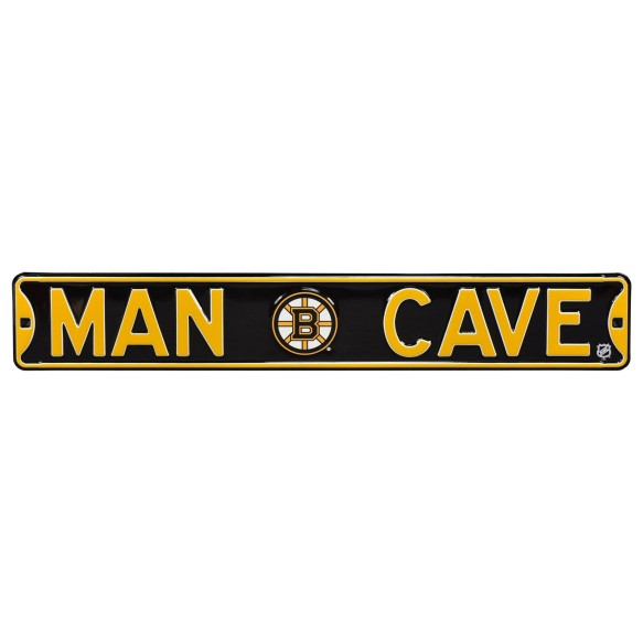 Boston Bruins NHL MAN CAVE Authentic Steel Street Sign