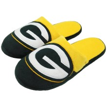 Green Bay Packers NFL Men's Big Logo Slipper 2.0