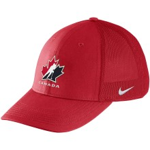 Team Canada IIHF Classic99 Aerobill Mesh Swooshflex DRI-FIT Cap - Red | Adjustable