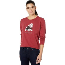 Life is Good Women's Winter Dog Days Long Sleeve Crusher Tee