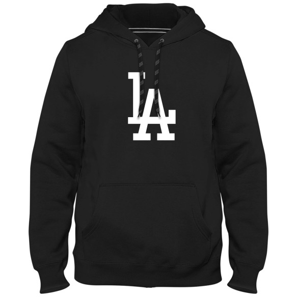Los Angeles Dodgers MLB Express Twill Logo Hoodie - Black
