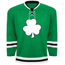 St. Patrick's Day Irish Clover Hockey Jersey - Kelly