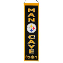 Pittsburgh Steelers NFL MAN CAVE Wool Banner