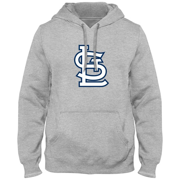 St. Louis Cardinals MLB Express Twill Logo Hoodie - Athletic Gray