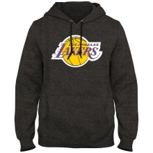 Los Angeles Lakers NBA Express Twill Logo Hoodie - Twisted Charcoal