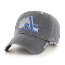 Quebec Nordiques Vintage NHL `47 Charcoal Ice Clean Up Cap