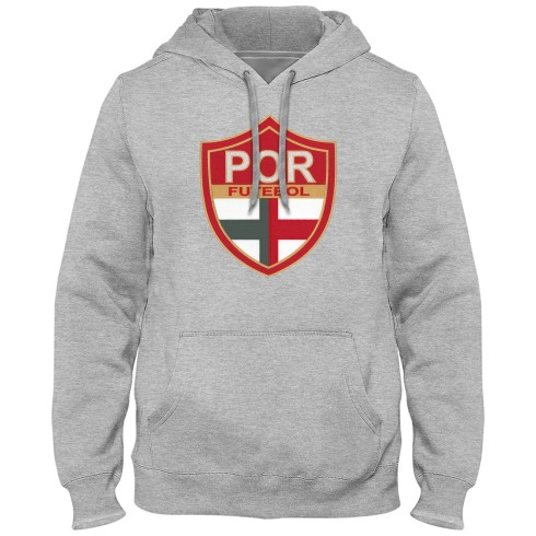 Portugal Futebol MyCountry Express Twill Logo Hoodie - Athletic Gray
