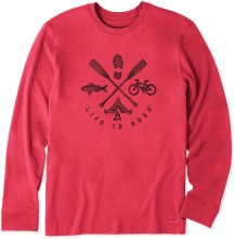 Life is Good Men's Outdoor Elements Long Sleeve Crusher Tee