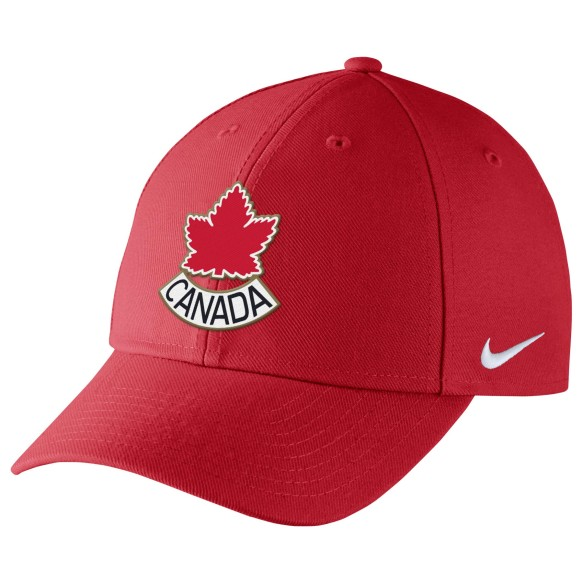 Casquette structuré adjustable DRI-FIT IIHF Classic99 Alternatif de l'equipe Canada - Rouge