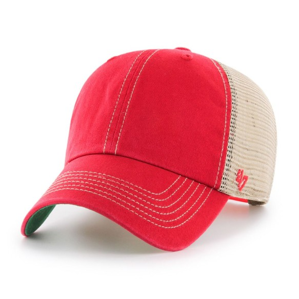 '47 Brand Trawler Mesh Back Blank Hat - Red | Adjustable