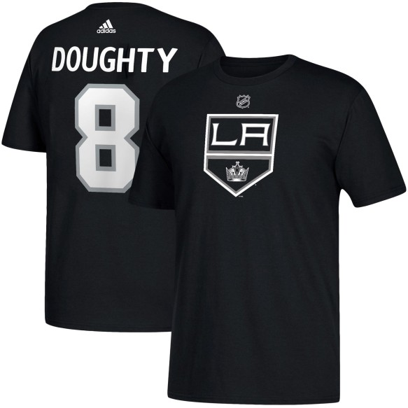 Los Angeles Kings Drew Doughty Adidas NHL Silver Player Name & Number T-Shirt