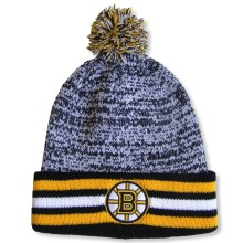 Boston Bruins NHL Granite Cuff Pom Knit Hat