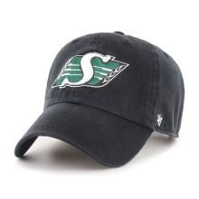 Casquette CFL Clean Up des Roughriders de Saskatchewan - Noir