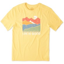Life is Good Men's Life Isn't Easy Mountains Smooth Tee