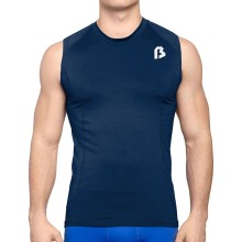Bulletin Pro Sports Performance Base Layer Compression Sleeveless T-Shirt - Navy