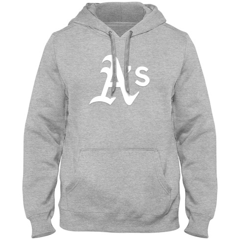 Oakland Athletics MLB Express Twill Logo Hoodie - Athletic Gray