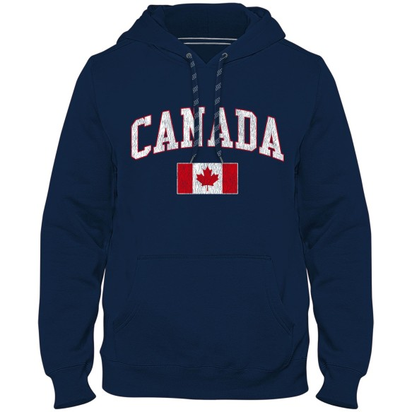 Canada MyCountry Vintage Premium Hoodie Alternate - Navy