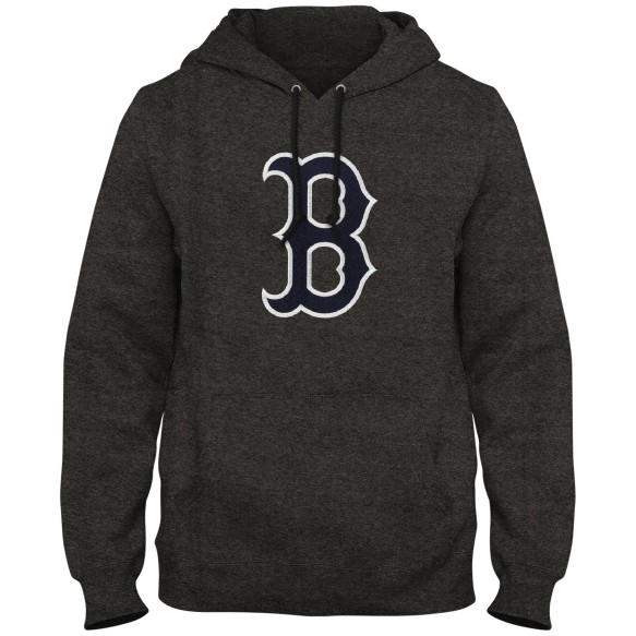 Boston Red Sox MLB Express Twill Logo Hoodie - Twisted Charcoal