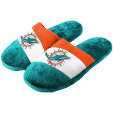 Miami Dolphins NFL Men's Colorblock Slide Slippers