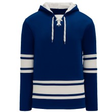 Toronto Skate Lace Athletic Pro Hockey Jersey Hoodie - Royal